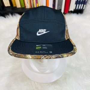 "NIKE REAL TREE AW84 5 PANEL HAT BLACK ""NWT"""